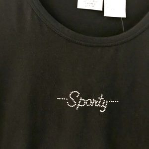 SJB Active Sporty Embellished T-Shirt New